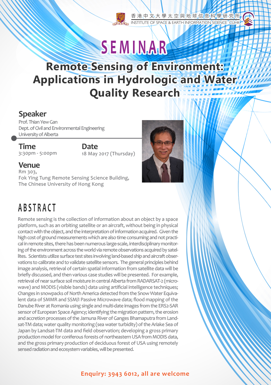 Remote Sensing of Environment: Applications in Hydrologic and Water Quality Research